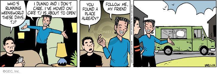 Comic Strip Greg Evans  Luann 2013-05-24 follow