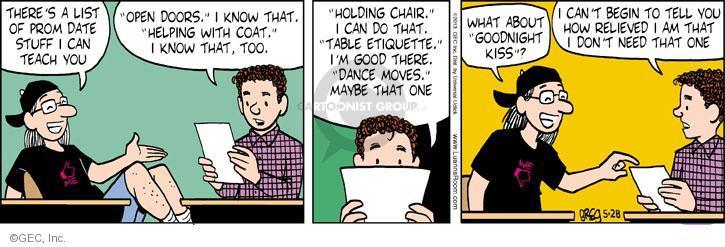 Cartoonist Greg Evans  Luann 2013-05-28 date