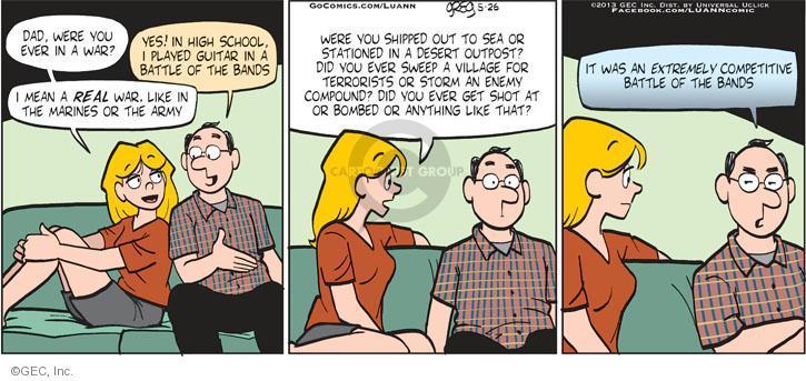 Comic Strip Greg Evans  Luann 2013-05-26 get high