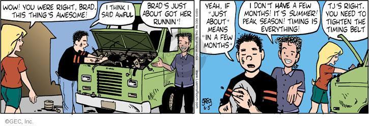 Comic Strip Greg Evans  Luann 2013-06-03 belt