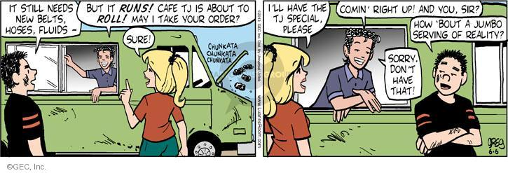 Comic Strip Greg Evans  Luann 2013-06-06 belt