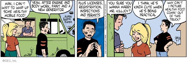 Comic Strip Greg Evans  Luann 2013-06-07 food inspection