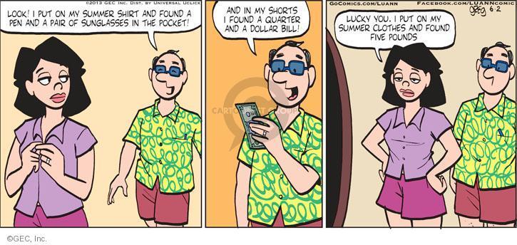 Comic Strip Greg Evans  Luann 2013-06-02 gain