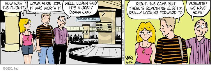 Comic Strip Greg Evans  Luann 2013-06-14 baggage