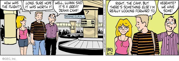 Comic Strip Greg Evans  Luann 2013-06-14 worth