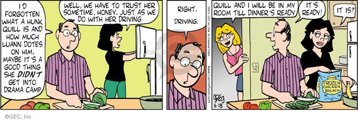Comic Strip Greg Evans  Luann 2013-06-18 drama