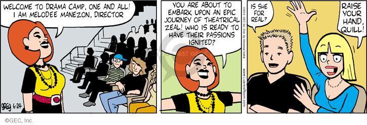 Comic Strip Greg Evans  Luann 2013-06-24 hand