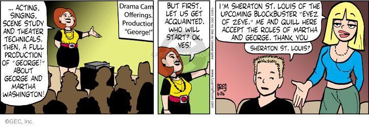 Comic Strip Greg Evans  Luann 2013-06-26 Sheraton