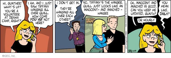 Comic Strip Greg Evans  Luann 2013-06-29 volunteer