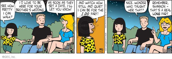 Comic Strip Greg Evans  Luann 2013-07-03 pretty girl