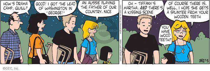 Comic Strip Greg Evans  Luann 2013-07-05 drama camp