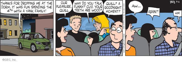Cartoonist Greg Evans  Luann 2013-07-06 pleasure