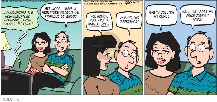 Cartoonist Greg Evans  Luann 2013-06-30 smell