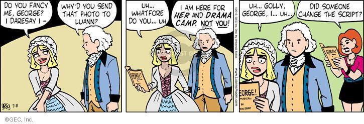 Comic Strip Greg Evans  Luann 2013-07-11 drama camp