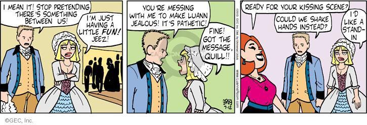 Comic Strip Greg Evans  Luann 2013-07-12 kiss
