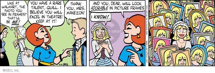 Cartoonist Greg Evans  Luann 2013-07-19 dear