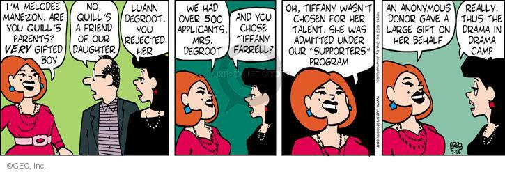 Comic Strip Greg Evans  Luann 2013-07-25 drama