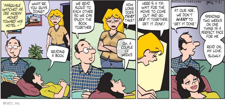 Comic Strip Greg Evans  Luann 2013-07-21 married couple