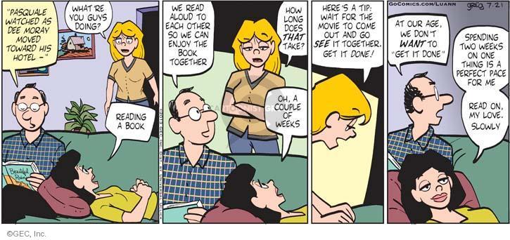 Comic Strip Greg Evans  Luann 2013-07-21 other guy