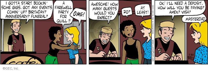 Comic Strip Greg Evans  Luann 2013-07-30 birthday