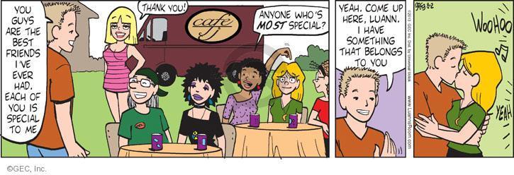 Comic Strip Greg Evans  Luann 2013-08-02 kiss