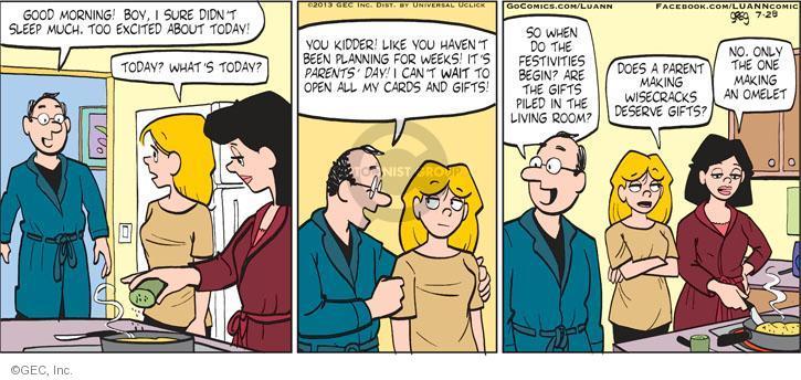 Comic Strip Greg Evans  Luann 2013-07-28 begin today