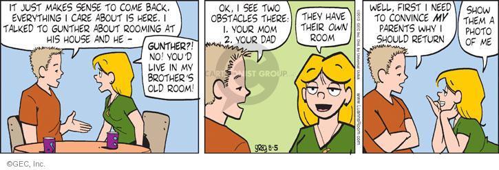 Comic Strip Greg Evans  Luann 2013-08-05 first