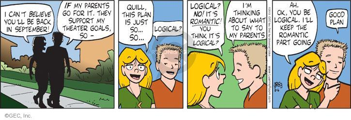 Cartoonist Greg Evans  Luann 2013-08-06 romantic