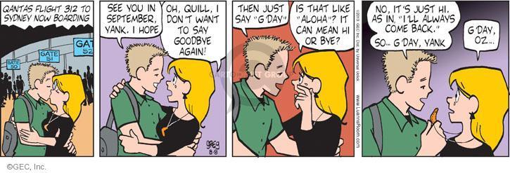 Comic Strip Greg Evans  Luann 2013-08-08 long-distance