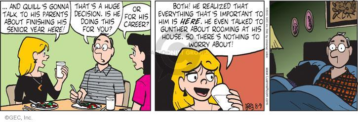 Comic Strip Greg Evans  Luann 2013-08-09 father daughter