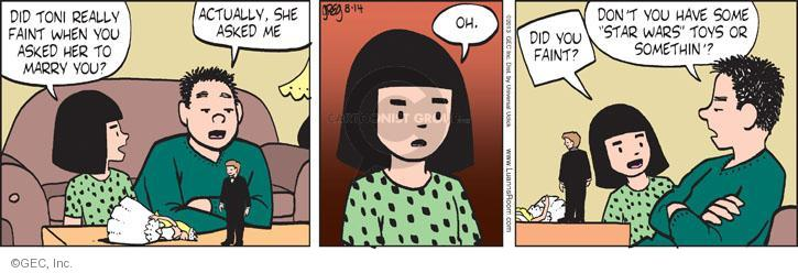 Comic Strip Greg Evans  Luann 2013-08-14 propose