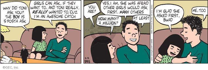 Comic Strip Greg Evans  Luann 2013-08-15 propose