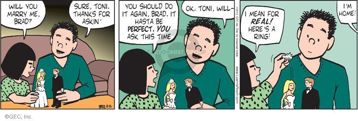 Comic Strip Greg Evans  Luann 2013-08-16 traditional marriage
