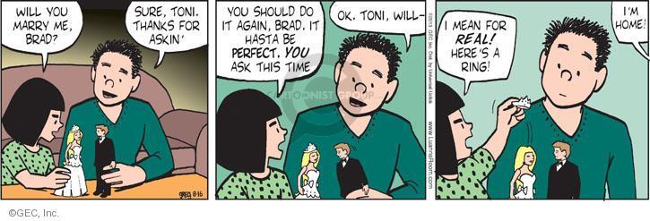Comic Strip Greg Evans  Luann 2013-08-16 propose