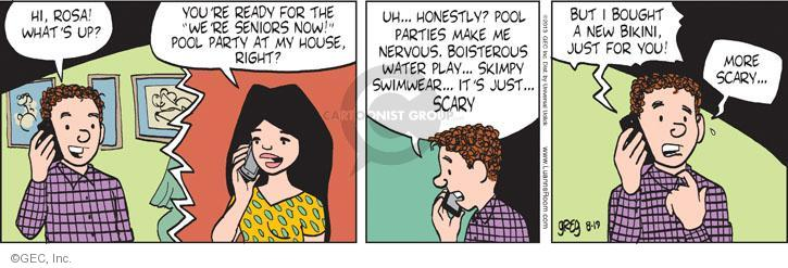Comic Strip Greg Evans  Luann 2013-08-19 boisterous
