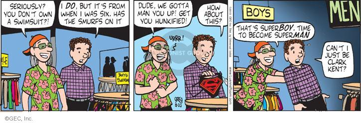 Comic Strip Greg Evans  Luann 2013-08-20 superhero