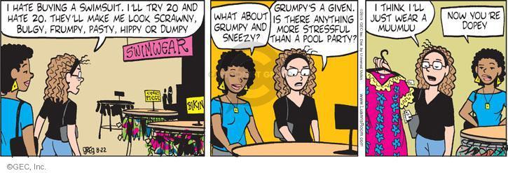 Cartoonist Greg Evans  Luann 2013-08-22 piece
