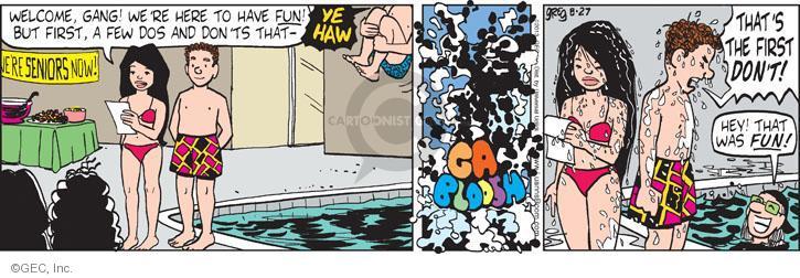 Comic Strip Greg Evans  Luann 2013-08-27 jump
