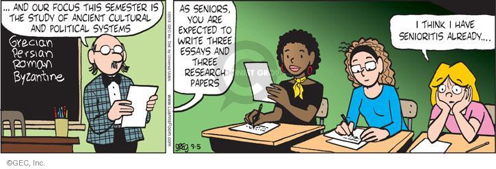 Comic Strip Greg Evans  Luann 2013-09-05 expect
