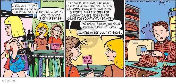 Comic Strip Greg Evans  Luann 2013-09-01 Tiffany