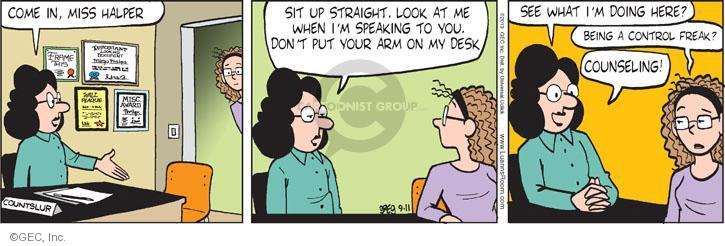 Comic Strip Greg Evans  Luann 2013-09-11 school counseling