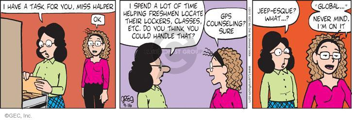 Cartoonist Greg Evans  Luann 2013-09-16 technology