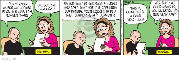 Comic Strip Greg Evans  Luann 2013-09-17 assistance