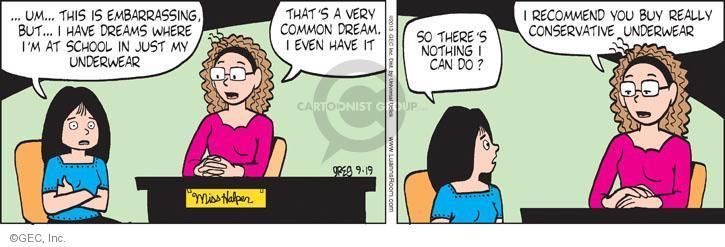 Comic Strip Greg Evans  Luann 2013-09-19 undergarment