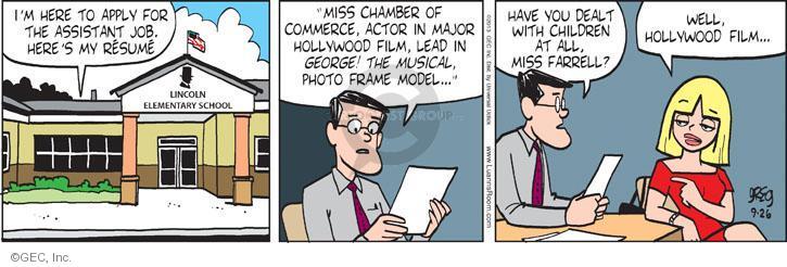 Comic Strip Greg Evans  Luann 2013-09-26 elementary school