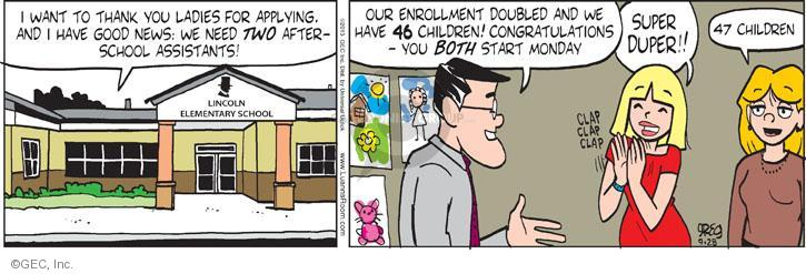 Comic Strip Greg Evans  Luann 2013-09-28 elementary school