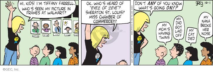 Comic Strip Greg Evans  Luann 2013-10-01 cat nose