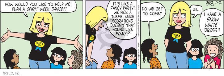 Comic Strip Greg Evans  Luann 2013-10-02 party planning
