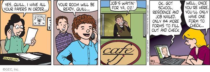Comic Strip Greg Evans  Luann 2013-10-07 counselor