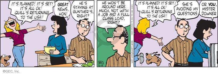Comic Strip Greg Evans  Luann 2013-10-08 father daughter